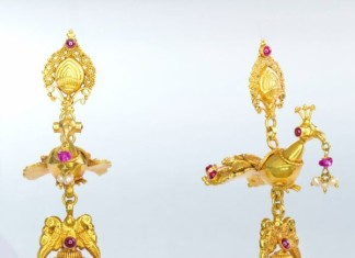 Gold Jhumka From Bhima Jewellers