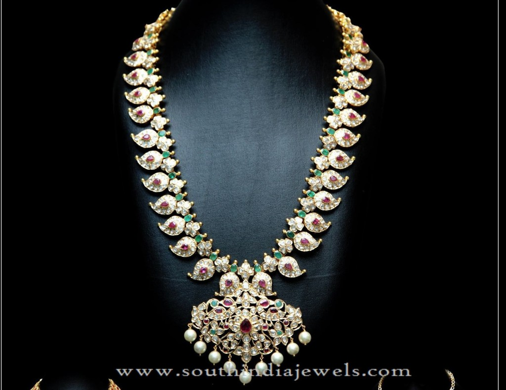 Gold Long Mango Haram Design