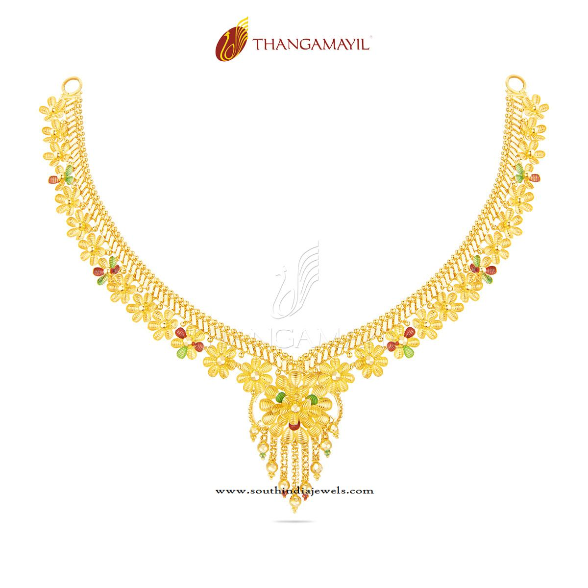 buy beautiful elegant gram gold necklace sets jewellery online