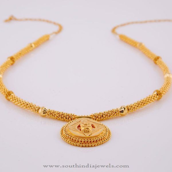 Simple Gold Necklace Design