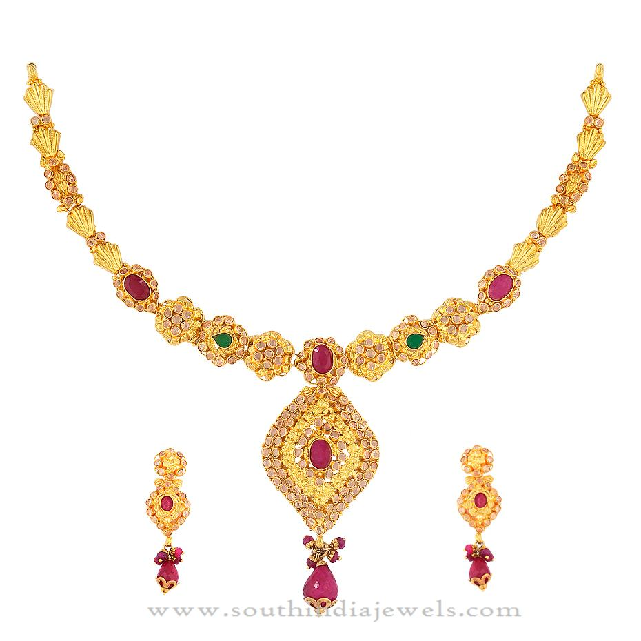 Gold Jewellery Necklace from Kamadhenu