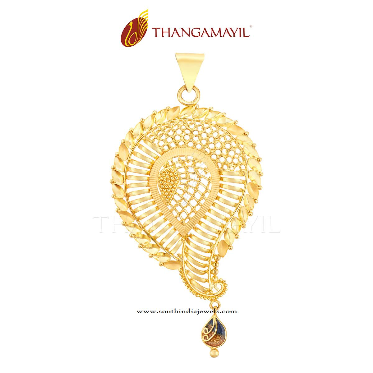 22k gold designer gold pendant south india jewels gold pendant for girls aloadofball Choice Image