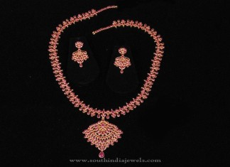 22K Gold Ruby Necklace Set