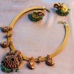 Gold South Indian Style Antique Necklace