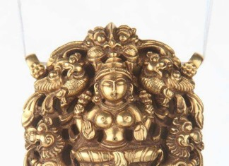 Gold Temple Pendant for Chains