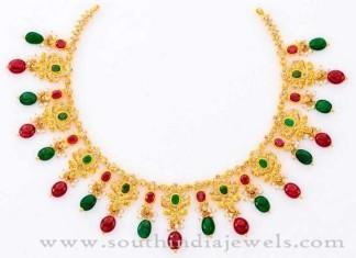 Gold Stone Necklace from Prakruti Vummudi Bangaru