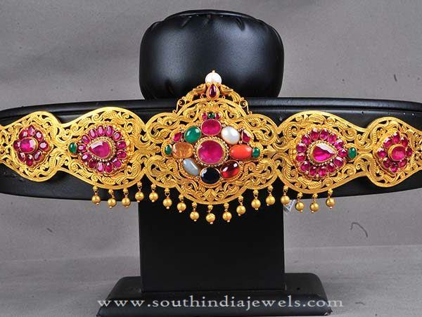 Gold Vadanam from Hyderabad Bombay Jewellers