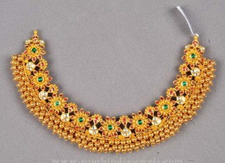 Heavy Antique Gold Choker Necklace from Bombay Jewellers
