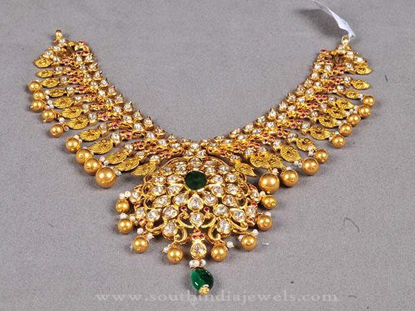 Hyderabad Style Antique Necklace Design