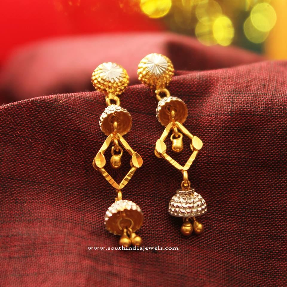 Gold Rhodium Earrings