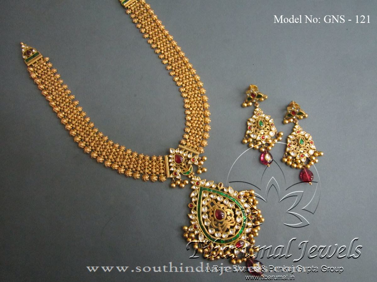 necklace indian hazoorilal designs designer iii gold new jewellery