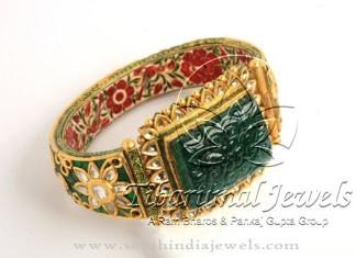 Indian Gold Meenakari Kada Bangle