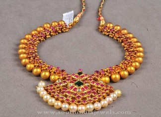 Latest Model Gold Antique Necklace 2016