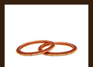Latest Model Gold Ruby Beaded Bangle