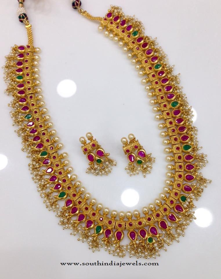 Latest Model One Gram Gold Haram from Swarnakshi
