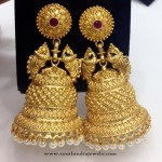 Gold Plated Matt Finish Jhumka