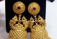 Gold Plated Matt Finish Jhumka from Swarnakshi