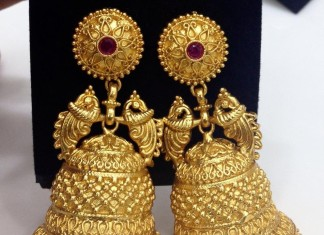 Gold Plated Matt Finish Jhumka from Swarnakshi
