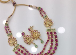 Multilayer Ruby Temple Necklace