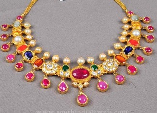 Navarathna Gold Necklace from Bombay Jewellers