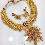One Gram Gold Plated Necklace with Earrings
