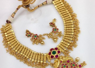 Indian One Gram Gold Plated Necklace Designs