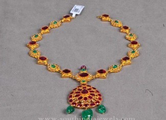 Simple Gold Antique Necklace Designs