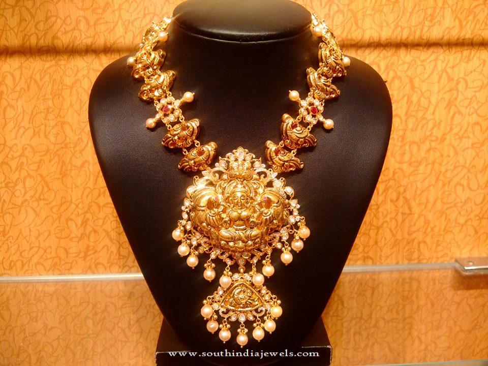 Traditional Antique Gold Necklace Design