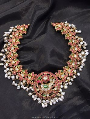 Traditional Gold Antique Ruby Necklace from Big Shop