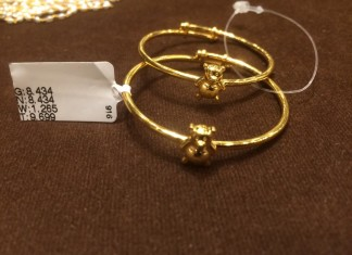 Adjustable Gold Baby Bangles