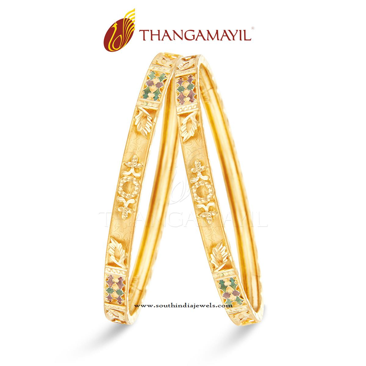 traditional gold bangle design for daily use south india