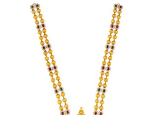 Gold Beaded Long Necklace from Kamadenu Jewellery
