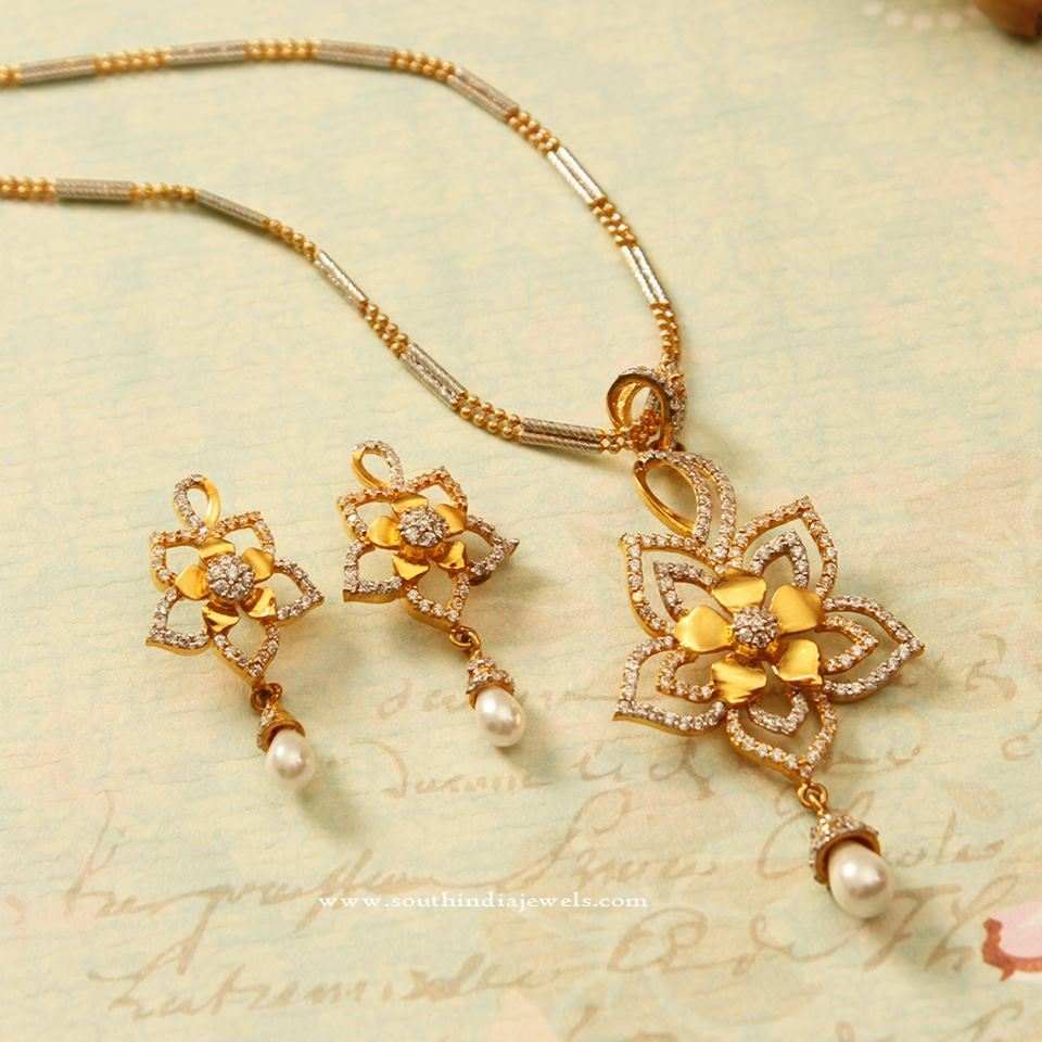 Latest Model Gold Chain Pendant Sets ~ South India Jewels