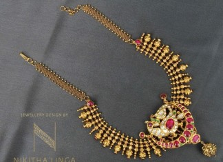 Indian Gold Necklace Patterns
