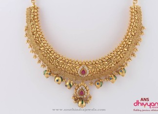 22K Indian Gold Designer Jewellery Necklace
