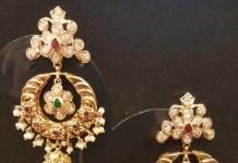 22K Gold Chandbali Jhumka Earrings