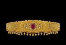 22K Gold Hip Belt Designs