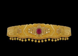 22K Gold Hip Belt Designs