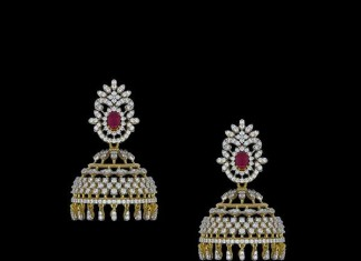 Beautiful Indian Diamond Jhumka Design