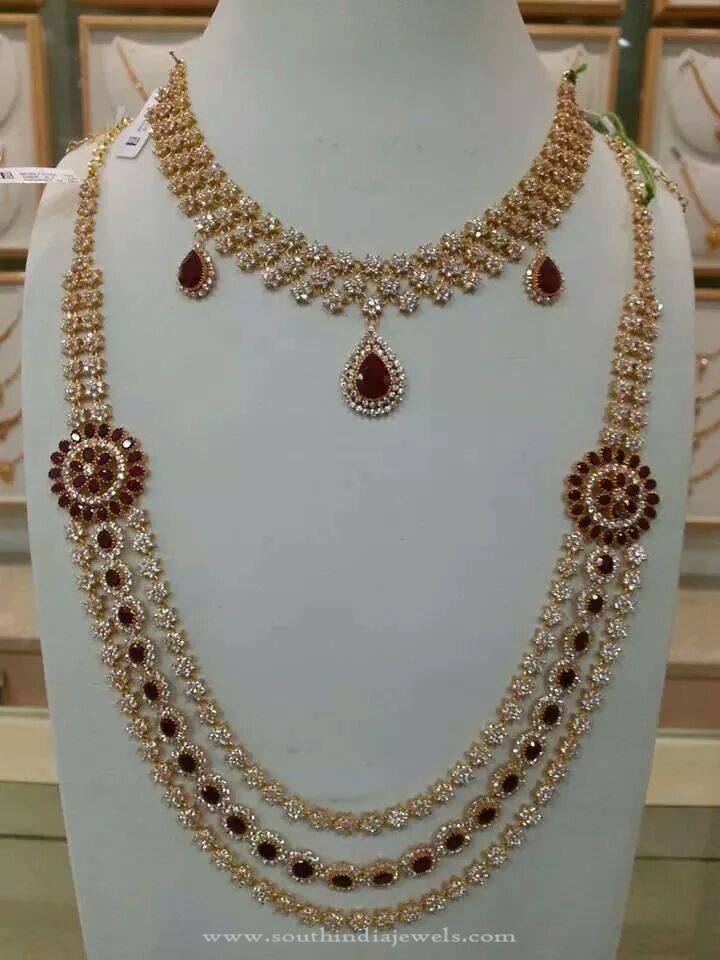 Bridal CZ Stone Necklace Set