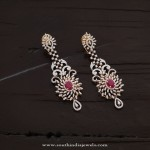 Designer Diamond Earrings with Rubies