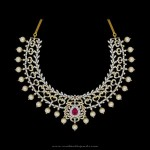 Designer Diamond Pearl Necklace