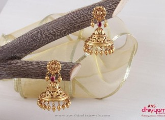 Gold Antique Jhumka Patterns