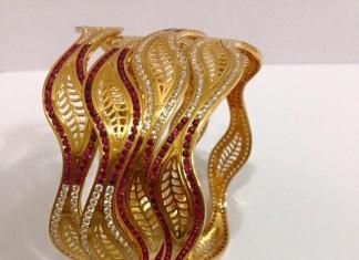 65 Grams Gold Bangle Set
