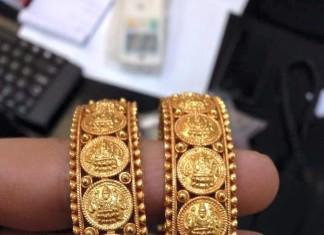 Gold Coin Bangle Design