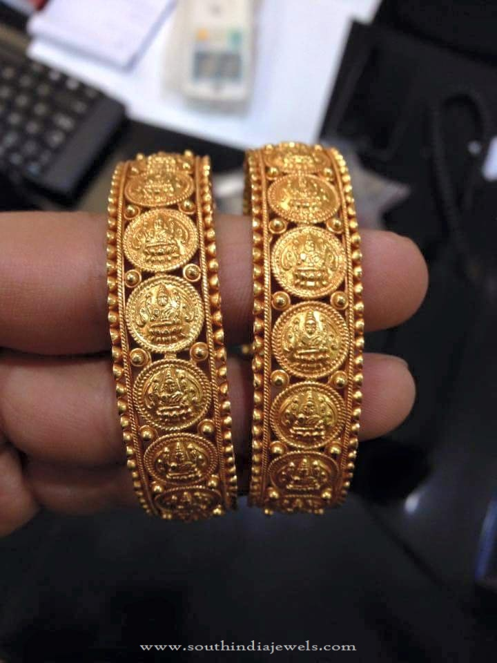 Gold Coin Bangle Design ~ South India Jewels