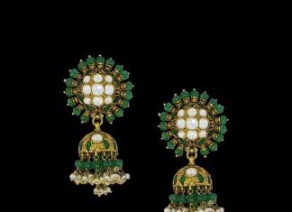 Latest Model Gold Emerald Jhumka