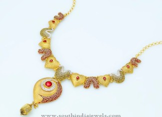 Gold Indian Statement Necklace Design