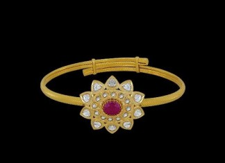 Simple Gold Kundan Bracelet