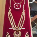 Gold Multilayer CZ Necklace Set
